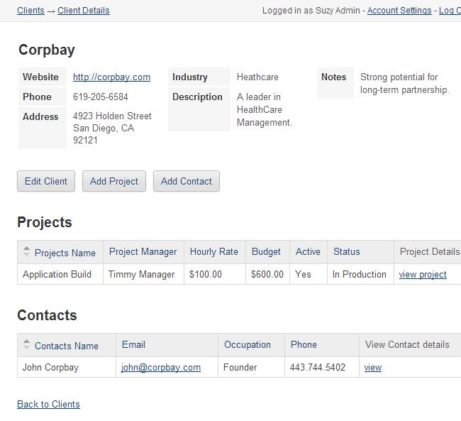 project management web app