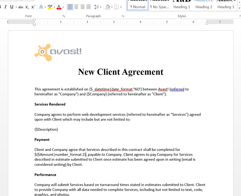 Dynamic pdfs and documents with webmerge knack blog for How to build a contract