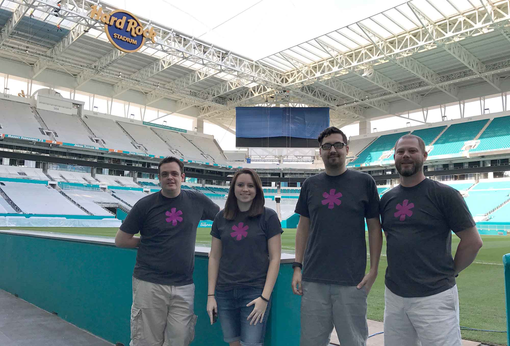 Onsite customer visit with the Miami Dolphins