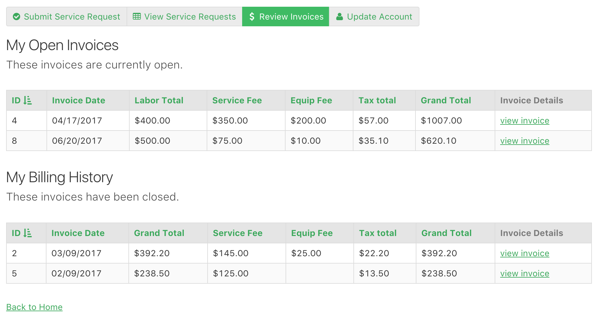 Online Database And Workflow Templates Customer Portal - What is an invoice for for service business