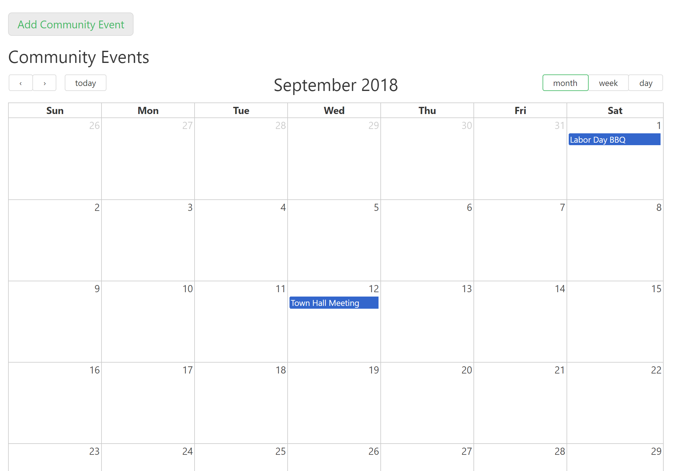 Residents Can View Upcoming Community Events And Host Their Own Event With This Calendar