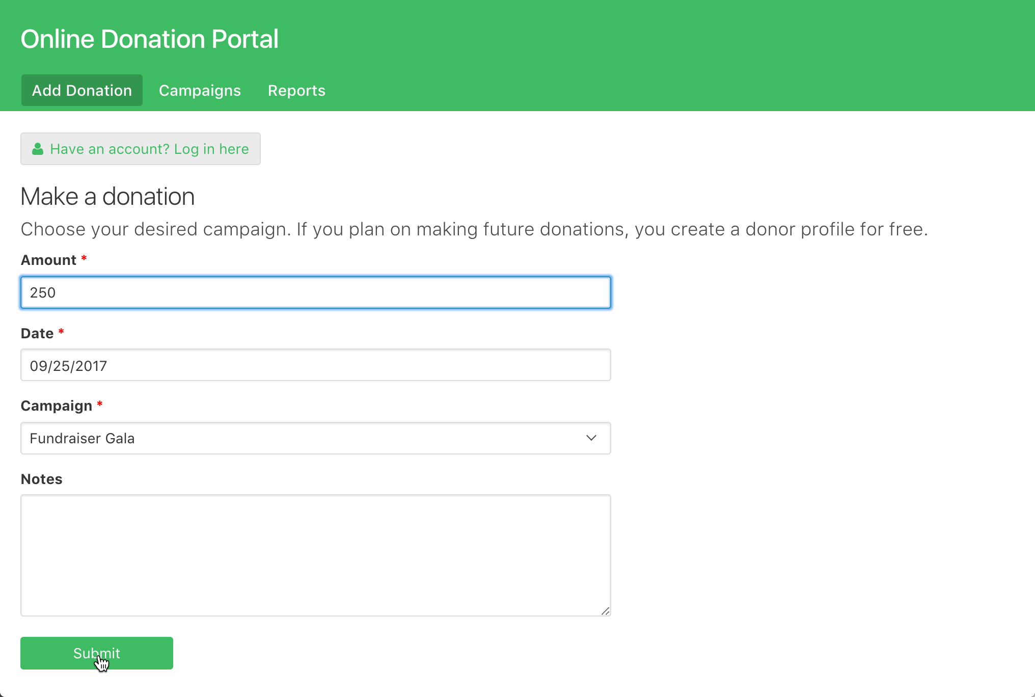 online database and workflow templates online donation portal